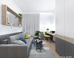 Projekt 32 - Średni biały szary pokój dziecka dla ucznia dla nastolatka, styl skandynawski - zdjęcie od PASS architekci