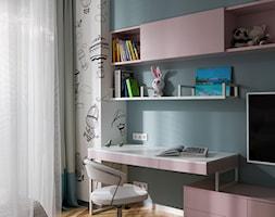 Średni szary niebieski pokój dziecka dla chłopca dla dziewczynki dla ucznia dla nastolatka, styl nowoczesny - zdjęcie od Barlinek