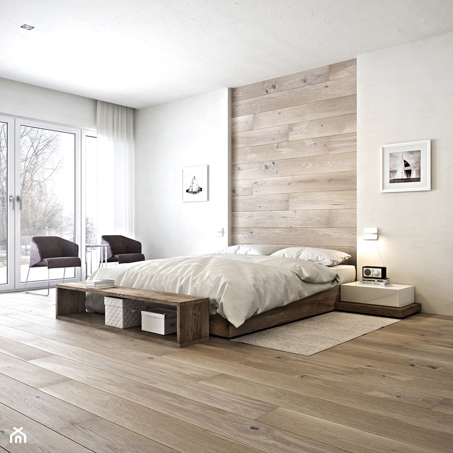 deska barlinecka du a sypialnia ma e ska styl minimalistyczny zdj cie od barlinek homebook. Black Bedroom Furniture Sets. Home Design Ideas