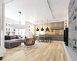 Kolekcja Pure - Średni biały salon z kuchnią z jadalnią - zdjęcie od Barlinek - Homebook