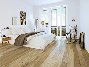 Kolekcja Pure - Średnia biała sypialnia małżeńska z balkonem / tarasem - zdjęcie od Barlinek