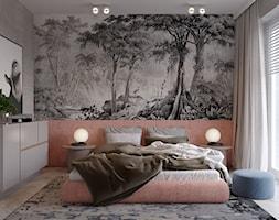 Dom pod Wrocławiem - Mała szara brązowa sypialnia małżeńska, styl nowoczesny - zdjęcie od COI Pracownia Architektury Wnętrz