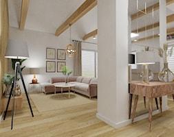 Dom jednorodzinny parterowy - Salon, styl skandynawski - zdjęcie od WLEKLIŃSKA WNĘTRZA - Homebook