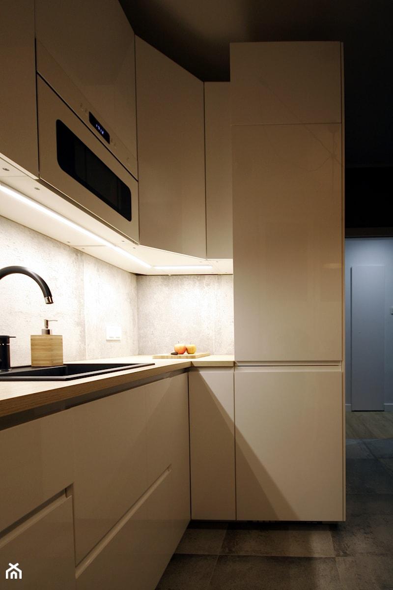 Kawalerka w stylu industrial - Kuchnia, styl industrialny - zdjęcie od WLEKLIŃSKA WNĘTRZA