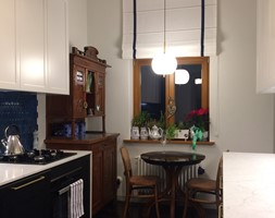 Apartament w secesyjnej willi w Gdańsku Oliwie - Kuchnia, styl nowojorski - zdjęcie od WLEKLIŃSKA WNĘTRZA - Homebook