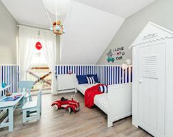 Stylizacja i fotografia wnętrz - Średni biały szary pokój dziecka dla chłopca dla dziewczynki dla ucznia dla malucha, styl skandynawski - zdjęcie od AnEd Design - stylizacja wnętrz/home staging/fotografia wnętrz - Homebook