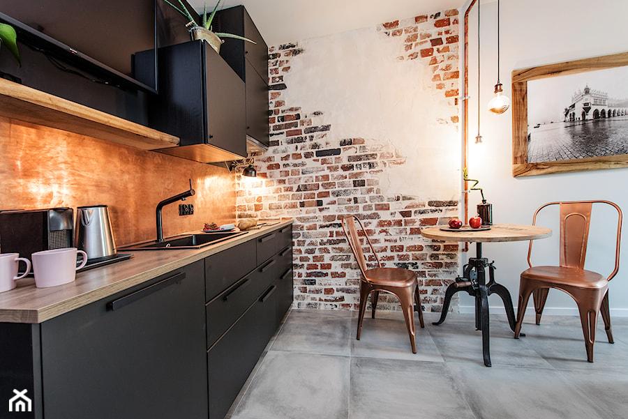 Projekt mieszkania 27m2 - Kuchnia, styl industrialny - zdjęcie od AnEd Design - stylizacja wnętrz/home staging/fotografia wnętrz