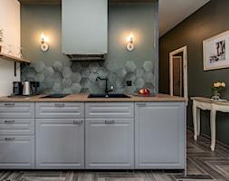 Projekt małego mieszkania 27m2 - Kuchnia, styl prowansalski - zdjęcie od AnEd Design - stylizacja wnętrz/home staging/fotografia wnętrz - Homebook