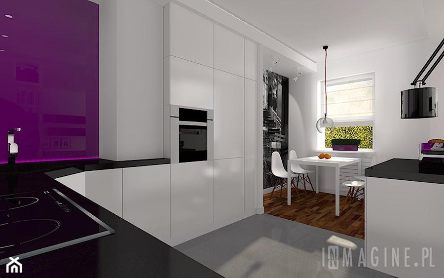 biała kuchnia  zdjęcie od InMAGINE  Autorska Pracownia Projektowa, Warszawa