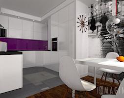 biała kuchnia z jadalnią - zdjęcie od InMAGINE - Autorska Pracownia Projektowa, Warszawa