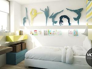 Jasne, przestronne, ale jednocześnie przytulne wnętrza pokoju dla dziecka. - zdjęcie od Monostudio Wnętrza