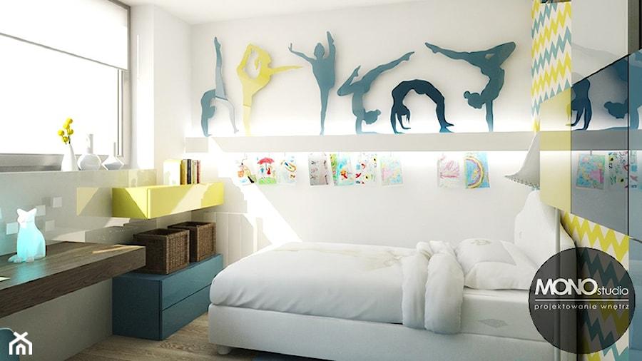 Aranżacje wnętrz - Pokój dziecka: Jasne, przestronne, ale jednocześnie przytulne wnętrza pokoju dla dziecka. - Monostudio Wnętrza. Przeglądaj, dodawaj i zapisuj najlepsze zdjęcia, pomysły i inspiracje designerskie. W bazie mamy już prawie milion fotografii!