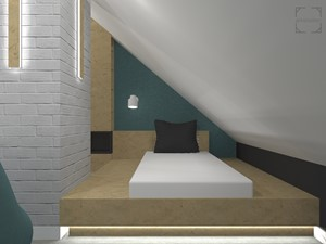Pokój dla nastolatka na poddaszu - zdjęcie od A4 Atelier projektowanie wnętrz