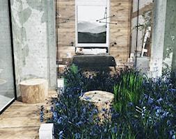 Konkurs dla architektów - Mały taras z przodu domu z tyłu domu rustykalny - zdjęcie od STEGU