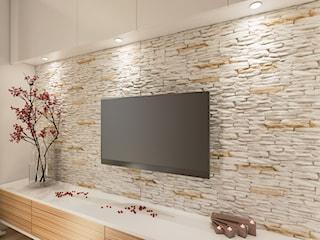 Telewizor na tle cegły, drewna czy betonu? Zobacz 7 niebanalnych aranżacji!