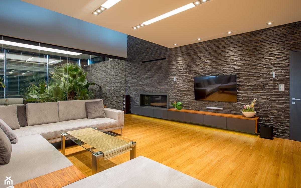 nowoczesne wnętrze, kamień dekoracyjny