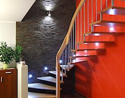 Kamień dekoracyjny Venezia - Średnie wąskie schody jednobiegowe zabiegowe wachlarzowe drewniane metalowe - zdjęcie od STEGU