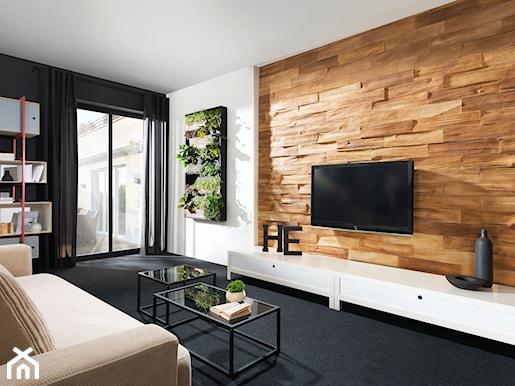 Jak mo esz dekorowa za pomoc drewna zobacz inspiracje - Holzriemchen wand ...