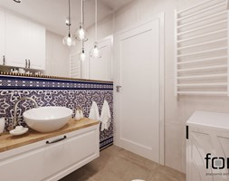 ŁAZIENKA CYSTERSÓW - Mała szara łazienka na poddaszu w bloku w domu jednorodzinnym bez okna, styl eklektyczny - zdjęcie od FORMA - Pracownia Architektury Wnętrz i Krajobrazu