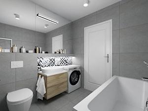 ŁAZIENKA - Średnia szara łazienka w domu jednorodzinnym bez okna, styl eklektyczny - zdjęcie od FORMA - Pracownia Architektury Wnętrz i Krajobrazu