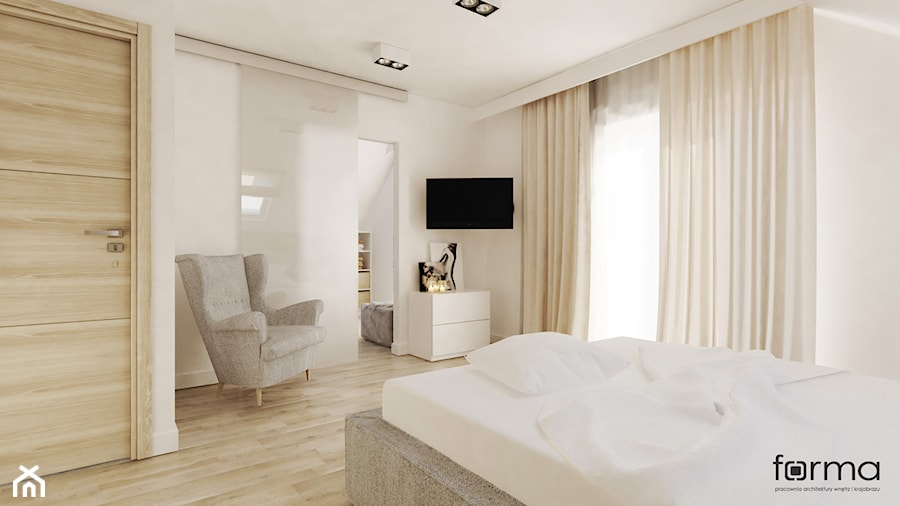 Sypialnia Z Garderobą średnia Biała Sypialnia Dla Gości