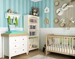 POKÓJ DZIECIĘCY - Średni biały turkusowy pokój dziecka dla chłopca dla niemowlaka, styl klasyczny - zdjęcie od FORMA - Pracownia Architektury Wnętrz i Krajobrazu