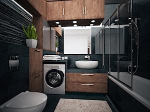 Łazienka - Średnia czarna łazienka, styl nowoczesny - zdjęcie od FORMA - Pracownia Architektury Wnętrz i Krajobrazu
