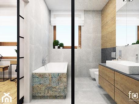 Aranżacje wnętrz - Łazienka: ŁAZIENKA KOKOSOWA - Średnia łazienka w bloku w domu jednorodzinnym z oknem, styl industrialny - FORMA - Pracownia Architektury Wnętrz. Przeglądaj, dodawaj i zapisuj najlepsze zdjęcia, pomysły i inspiracje designerskie. W bazie mamy już prawie milion fotografii!