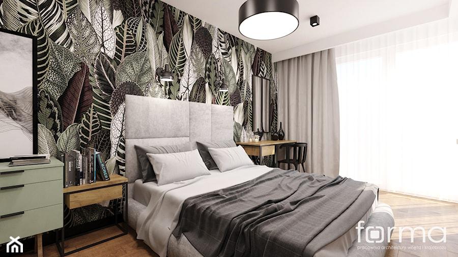 SYPIALNIA MASARSKA - Średnia biała sypialnia małżeńska, styl eklektyczny - zdjęcie od FORMA - Pracownia Architektury Wnętrz