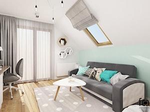POKÓJ KAROLINY - Średni biały zielony pokój dziecka dla chłopca dla dziewczynki dla ucznia dla nastolatka, styl nowoczesny - zdjęcie od FORMA - Pracownia Architektury Wnętrz i Krajobrazu