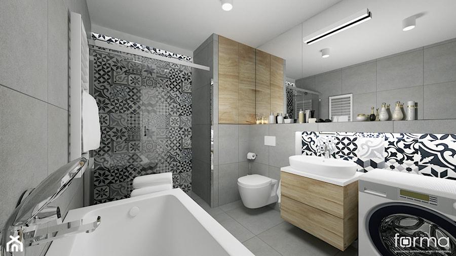 łazienka średnia łazienka Styl Eklektyczny Zdjęcie Od