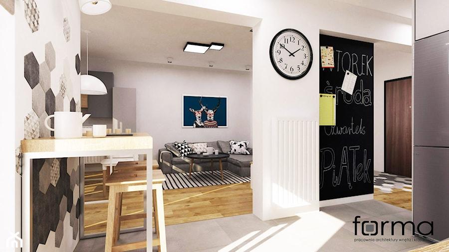 MIESZKANIE DĄBIE PARK - Salon, styl nowoczesny - zdjęcie od FORMA - Pracownia Architektury Wnętrz