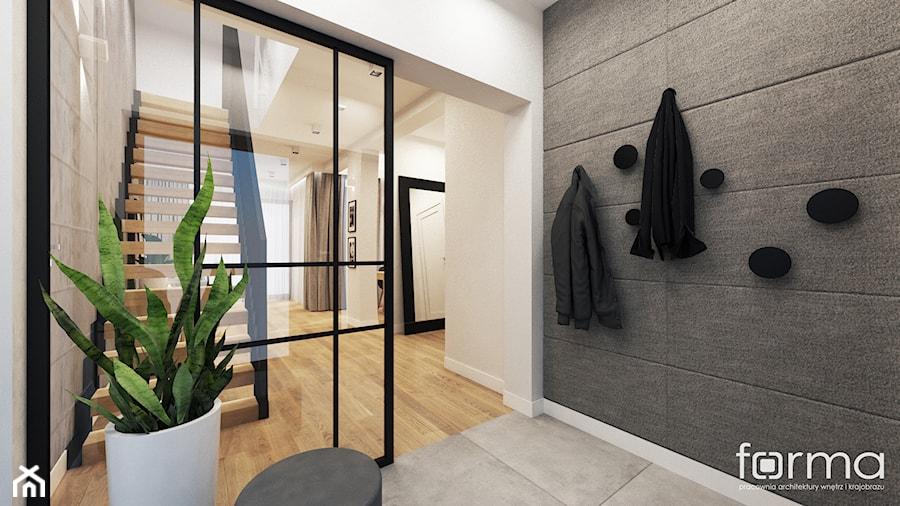 DOM TUCHÓW 2 - Hol / przedpokój, styl industrialny - zdjęcie od FORMA - Pracownia Architektury Wnętrz