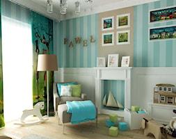 POKÓJ DZIECIĘCY - Średni turkusowy zielony pokój dziecka dla chłopca dla malucha, styl klasyczny - zdjęcie od FORMA - Pracownia Architektury Wnętrz i Krajobrazu