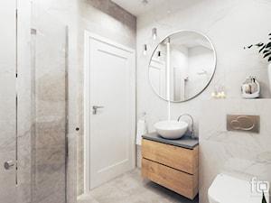 ŁAZIENKA 2 ZABIERZÓW - Średnia biała szara łazienka bez okna, styl nowojorski - zdjęcie od FORMA - Pracownia Architektury Wnętrz i Krajobrazu
