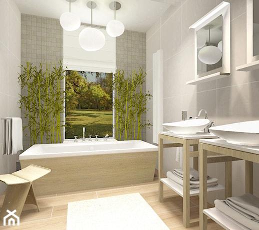 Biało Zielona łazienka Pomysły Inspiracje Z Homebook