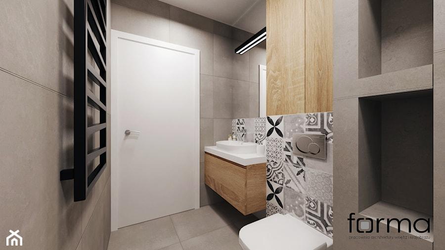 MIESZKANIE DĄBIE PARK - Mała łazienka, styl nowoczesny - zdjęcie od FORMA - Pracownia Architektury Wnętrz