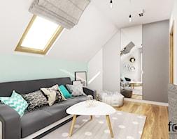 POKÓJ KAROLINY - Mały biały pokój dziecka dla chłopca dla dziewczynki dla ucznia dla nastolatka, styl nowoczesny - zdjęcie od FORMA - Pracownia Architektury Wnętrz i Krajobrazu