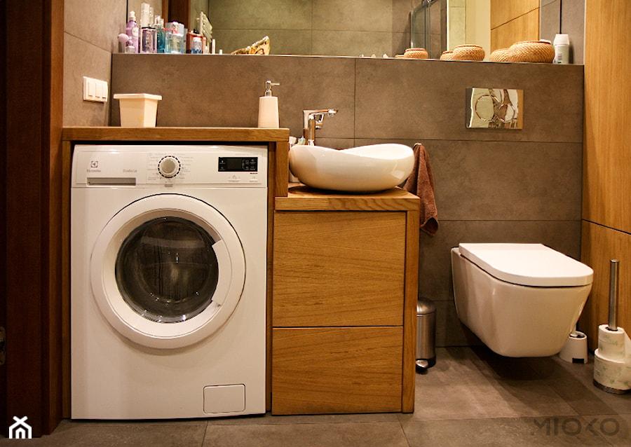 Mioko Drewniana Zabudowa W łazience Zdjęcie Od Mioko