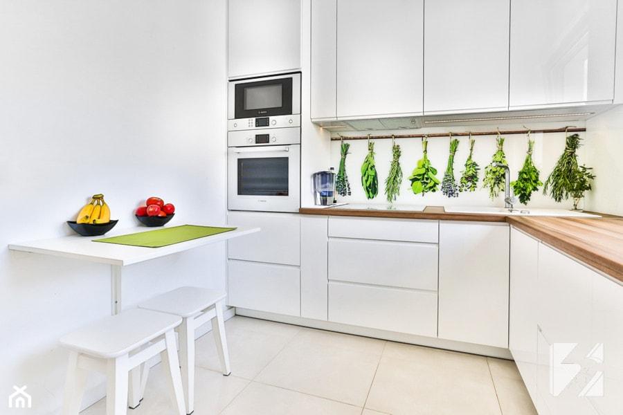 Kuchnia na wymiar z grafiką na szkle  zdjęcie od 3TOP Meble -> Kuchnia Gazowa Do Zabudowy Na Szkle