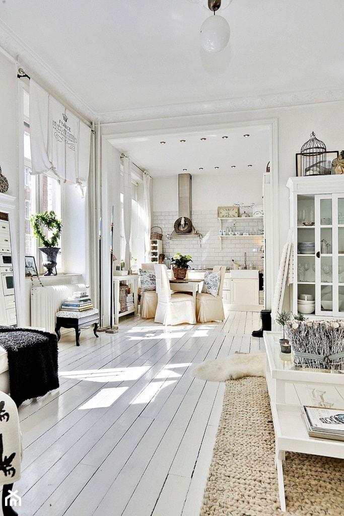 mieszkanie pe ne bieli salon styl skandynawski