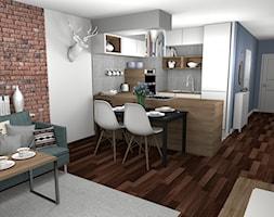 Głęboki błękit i zimny beton - Kuchnia, styl skandynawski - zdjęcie od Pracownia Kardamon