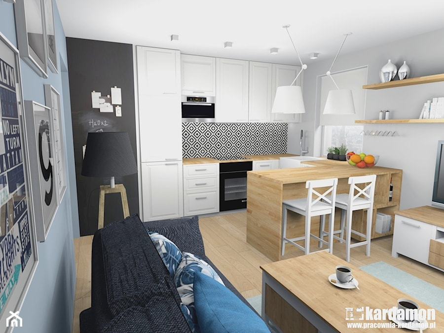 Sielanka Domowa W Mieszkaniu W Bloku Srednia Biala Czarna Kuchnia