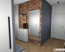 Mieszkanie w Krakowie z charakterem - Średni biały czarny hol / przedpokój, styl industrialny - zdjęcie od Pracownia Kardamon
