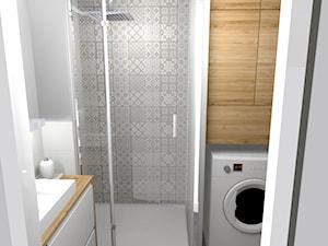 Jasna łazienka 3,3m2 w dwupiętrowym mieszkaniu