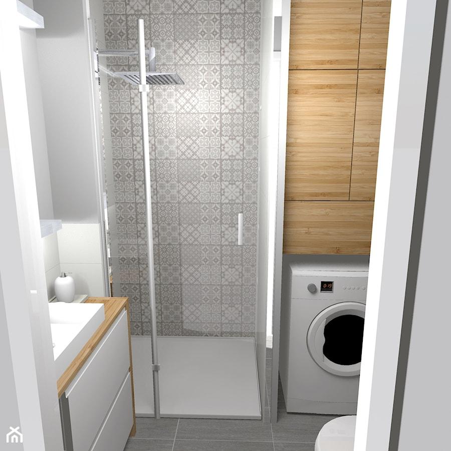 Jasna łazienka 33m2 W Dwupiętrowym Mieszkaniu łazienka