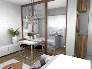 Elegancki salon z wydzieloną sypialnią 26m2
