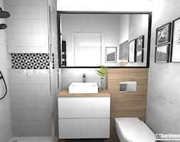 Mieszkanie usłane roślinami - Średnia łazienka w bloku w domu jednorodzinnym bez okna, styl nowocze ... - zdjęcie od Pracownia Kardamon - Homebook