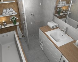 Łazienka styl Nowoczesny - zdjęcie od Pracownia Kardamon