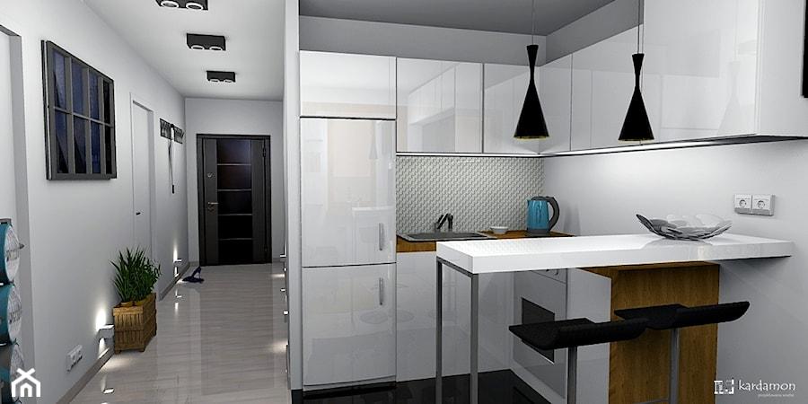 Aneks kuchenny w salonie  zdjęcie od Pracownia Kardamon -> Kuchnie W Salonie